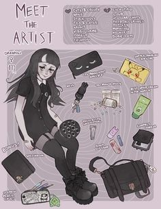 Meet The Artist by DrawKill Arte Do Kawaii, Kawaii Art, Cute Art Styles, Cartoon Art Styles, Drawing Challenge, Art Challenge, Aesthetic Art, Aesthetic Anime, Comic Art