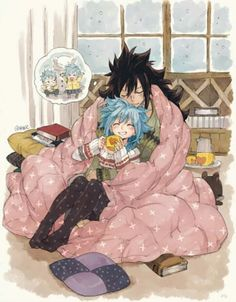 fairy tail, anime couple and gale image on We Heart It Fairy Tail Levy, Fairy Tail Ships, Rog Fairy Tail, Fairy Tail Art, Fairy Tail Guild, Fairy Tales, Couples Fairy Tail, Fairy Tail Family, Anime Fairy