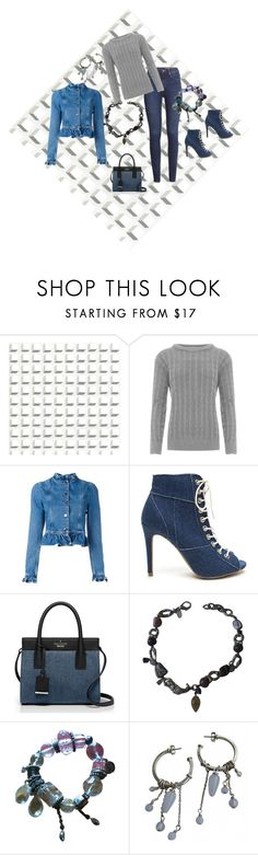 """Blue Denim"" by jeanstapley ❤ liked on Polyvore featuring Cole & Son, H&M, WearAll, J.W. Anderson, Kate Spade, REMINISCENCE and Dyrberg/Kern"