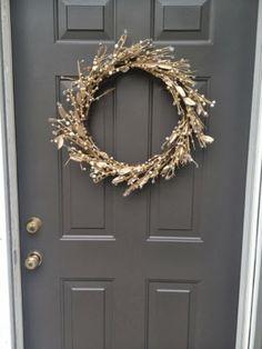"Bobi Law Designs....Sherwin Williams ""Urban Bronze"" color on the front door in satin finish."