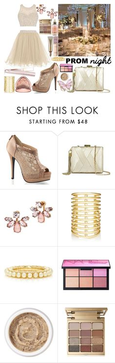 """""""Contest:: Perfect Prom Night"""" by sbhackney ❤ liked on Polyvore featuring Heist, Fabulicious, GUESS by Marciano, Marchesa, Jules Smith, NARS Cosmetics, Aromatherapy Associates, Stila and PROMNIGHT"""