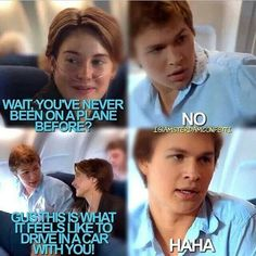 :) #tfios haha his face when he answers no