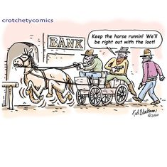 Happy Tuesday everyone!  You can take that one to the bank. #happy #bank #tuesday #everyone #darkstories Happy Bank, Dark Stories, Happy Tuesday, Cartoons, Comics, Humor, Animated Cartoons, Cartoon