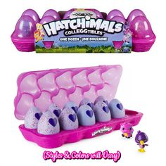 Hatchimals Colleggtibles Season 1 Mystery Blind Egg Carton - 12-Pack (1 Dozen) by Spin Master - #6038308 (Includes 1 of 2 Exclusive Flamingoose)