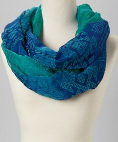 This Cool Ombre Geometric Infinity Scarf is perfect! #zulilyfinds