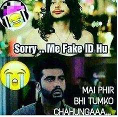 Mein phir bhi tum ko chahon gii..😔 Crazy Jokes, Some Funny Jokes, Crazy Funny Memes, Good Jokes, Wtf Funny, Funny Facts, Fun Jokes, Jokes Images, Funny Images