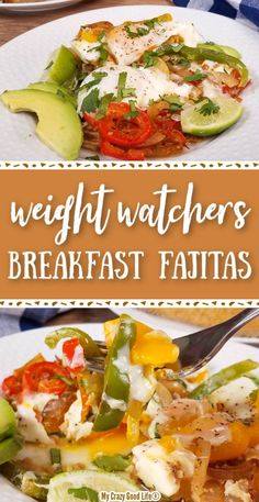 This healthy Fajita Breakfast Casserole is filling and starts your day off with Traditional fajita vegetables–bell peppers and onions–make up this vegetarian breakfast recipe. Can be made in the Instant Pot, on the stove top, or in the oven. Low Fat Breakfast, Weight Watchers Breakfast, Weight Watchers Meals, Instant Pot Pressure Cooker, Pressure Cooker Recipes, Diet Recipes, Cooking Recipes, Healthy Recipes, Fajita Vegetables