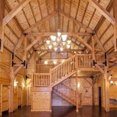 Wedding & Event Barns | Sand Creek Post & Beam - this is an event space, but I've been seeing this in my dreams as the central room for a house since I was in my teens.