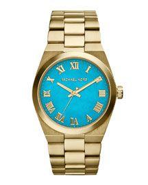 Michael Kors Michael Kors Channing Golden Stainless Steel Three-Hand Watch