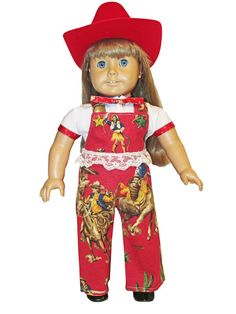 18 inch doll clothes American Girl Cowgirl or Cowboy Style. $22.99, via Etsy.