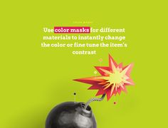 COLOR MASKS • Use color masks for different materials to instantly change the color or fine tune the item's contrast • Lstore.graphics