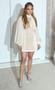 jennifer lopez style | ... Jennifer Lopez looked like puffy-shirted hell & other fashion--- nice dress Jen