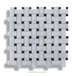 BuildDirect: Natural Stone Mosaic Mosaic Tile   Marble Series    Turkish Carrara Basketweave