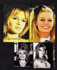Eleven 1950's-60's European BRIGITTE BARDOT Movie Star Cards | eBay