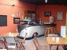 Why build a bar when you can do this.old vw bar