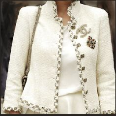 Chanel winter white jacket. Just wow. I shall covet til the end of my days!!