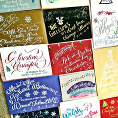 Reserve your dates now for the Holidays! We offer many Christmas/Holiday services and take custom orders too! Holiday Cards, Envelopes Addressed, Ornaments, Canvas Prints, Charger Plates, Holiday Tags, etc. #calligraphy #christmascalligraphy #holidaycalligraphy #christmascards #customdesign #holidaycards #christmasornaments #ornaments #holidayornaments #personalized #christmas #holidays #christmasideas #holidaygifts #christmasgifts #christmasenvelopes #holidayenvelopes #envelopeaddressing…