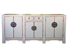 6-Door Marble Buffet, Weathered Gray on OneKingsLane.com