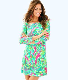 dc2499fedbf1e3 Lilly Pulitzer Upf 50+ Sophie Dress - XXS Gold Lilly Pultizer, Pink Outfits,