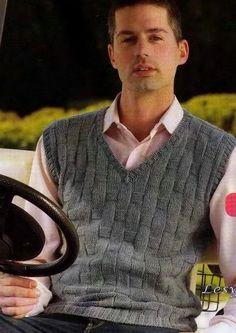 вязание спицами | Записи в рубрике вязание спицами | Творчество Mens Vest Pattern, Grey Vest, Wool Vest, Pant Shirt, Ethical Clothing, Handmade Clothes, Knitwear, Kids Fashion, Men Sweater