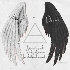 """""""Stranger in a foreign land"""" Thirty seconds before Mars. """"Angel or demon . - """"Stranger in a foreign land"""" Thirty seconds before Mars. """"Angel or demon,"""" I gave … - Music Tattoos, Body Art Tattoos, New Tattoos, Wing Tattoos, Alas Tattoo, Tattoo Hand, Soul Tattoo, Art Sketches, Art Drawings"""