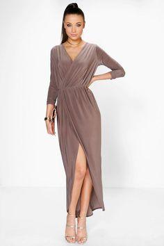 Tall Abra Slinky Wrap Maxi Dress