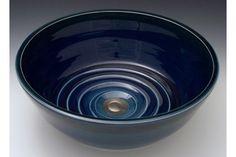 Indikoi US107 U-Style 15 Inch Midnight Round Porcelain Under Mount Sink