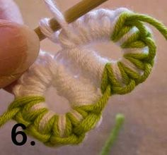 Learn how to Crotat (Crochet Tatting) with more than one colour. ༺✿ƬⱤღ https://www.pinterest.com/teretegui/✿༻