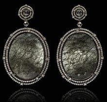 Annoushka one of a kind 18-carat gold, tourmalinated quartz and diamond earrings, £19,500, Harrods