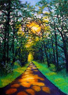 """Into the Woods"" - Original Fine Art for Sale - © Jill Bates"