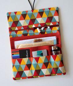 Leno bag tobacco pouches tobacco bag triangles colored rust
