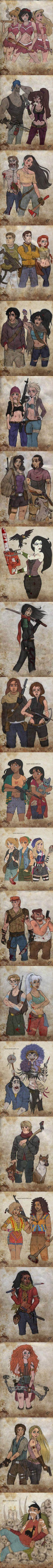 The Disney Apocalypse..Not even the apocalypse can stop Kuzco's groove LOL