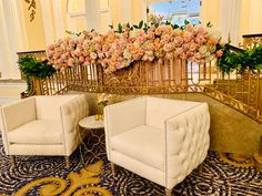 A beautiful floral garland of hydrangeas and roses! Designed by our talented team here at Holliday Flowers and Events.