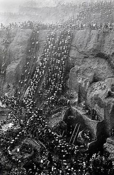 Sebastiao Salgado, Gold Mine, Figure Eight, Brazil, 1986, gelatin silver print