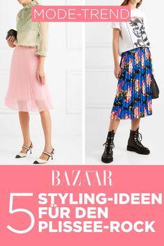 Modetrend: 5 Stylingideen für den Plisseerock im Sommer 2019 Denim Look, Midi Skirt, Fur, Party, Skirts, Outfits, Inspiration, Fashion, Casual Blazer