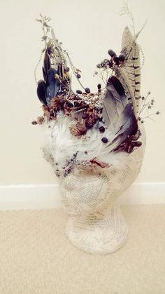 Autumn headpiece, Wild Feather & Woodland Headpiece, Festival Bohemian Headpiece, Woodland Headdress, Animal Headdress  $111