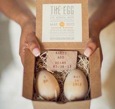 DIY Spring Wedding Ideas   Wooden Egg Invitations -  Easy Wedding Decorations