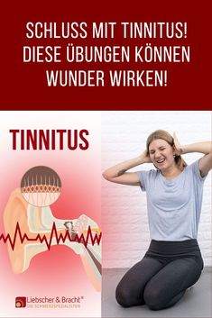 No more tinnitus! - Permanent ear noises drive you insane? In many cases, malfunctions in the cervical spine, stress and - übungen Yoga Logo, Wellness Fitness, Health And Wellness, Health Fitness, Vinyasa Yoga, Too Much Stress, Back Up, Have A Good Sleep, Big Face