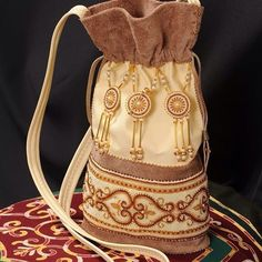 Сумочка-торба в якутском стиле, материал-замша, бисер,кожа Мастер- Альбина Андросова г. Нерюнгри #Сумка#Yakutia