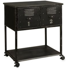 Imax Worldwide 27687 Alastor 2 Drawer Rolling Cart Table