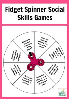 The Middle School Counselor These fidget spinner social skills games are great for children to practice social skills. These counseling activities can be used by parents, teachers and counselors. They are a nice addition to any social skills lessons. Social Skills Lessons, Social Skills Activities, Teaching Social Skills, Counseling Activities, Social Emotional Learning, Life Skills, Social Games, Feelings Activities, Group Counseling