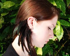 Feather Ear Cuff -  Chocolate - This is one of the behind the ear styles  gaining popularity in 2013 in the US.