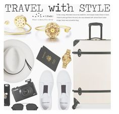 """Travel With Style"" by totwoo ❤ liked on Polyvore featuring Diane Von Furstenberg, Pierre Hardy, Royce Leather, Calypso Private Label, Kate Spade, 3.1 Phillip Lim and Versus"