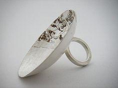 Silver bowl ring ~ Miranda Meilleur
