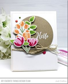 Stamps: Painted Prints Card Kit Die-namics: Painted Prints Card Kit, Stitched Circle STAX, A2 Rectangle STAX Set 1, A2 Stitched Rectangle STAX Set 2  Jodi Collins #mftstamps