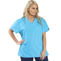 Looking for a cheap way to kit out your whole unit without compromising comfort or quality? Try the Dickies Unisex Scrub top. Available in 11 colours in sizes XS-3XL. Only £17.00.   #medicalscrubs #nursescrubs #dentistscrubs #nurses #dentists #bluescrubs #nurseuniform