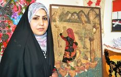 Iraq - Marwa Ali, an artist who uses kitchen materials for her art pieces. By Abdulkareem Alamiry (RFE/RL)