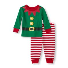 The Childrens Place - Baby will have a holly jolly Christmas in this PJ set!