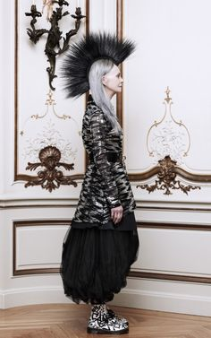 M'O Exclusive: Sequin Illusion Tulle Dress With Studded Collar by Rodarte Now Available on Moda Operandi