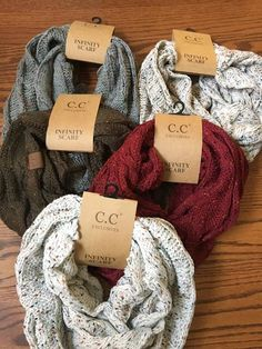 C.C. Cable Knit Scarf-- chunky infinity scarves are perfect to keep you warm through the fall and winter.  Bluffcreekboutique.com
